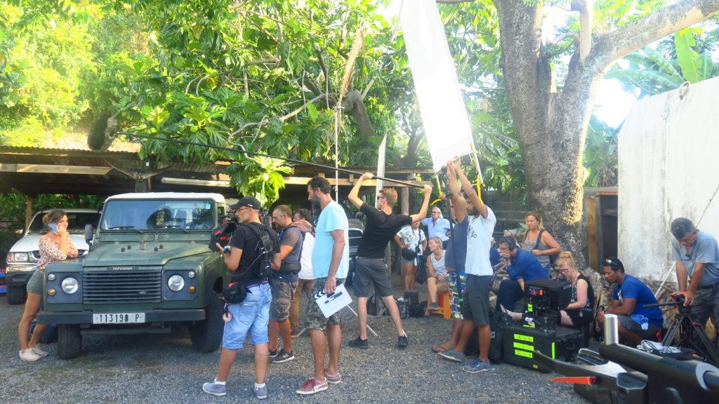 Scène de tournage d'une fiction à Tahiti - les films du pacifique