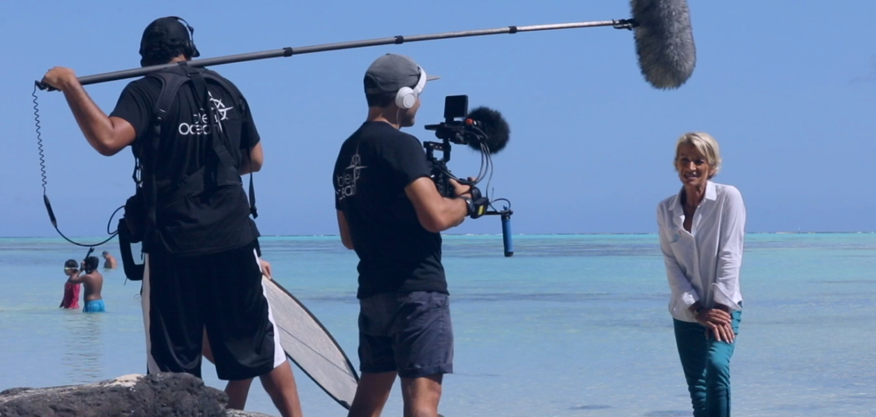Equipe de tournage Bleu Océan